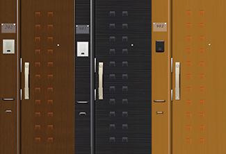 エントランスユニット・オプションタイプ(木目柄)+オリジナル玄関ドア