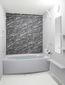 写真:大理石調壁 グリジオカルニコ・パラレルホワイト