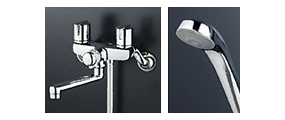 写真:2ハンドル水栓(浴槽兼用)